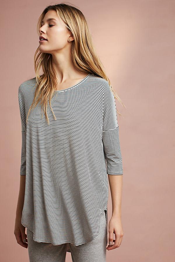 Florence Oversized Knit Tee - Black Motif, Size L