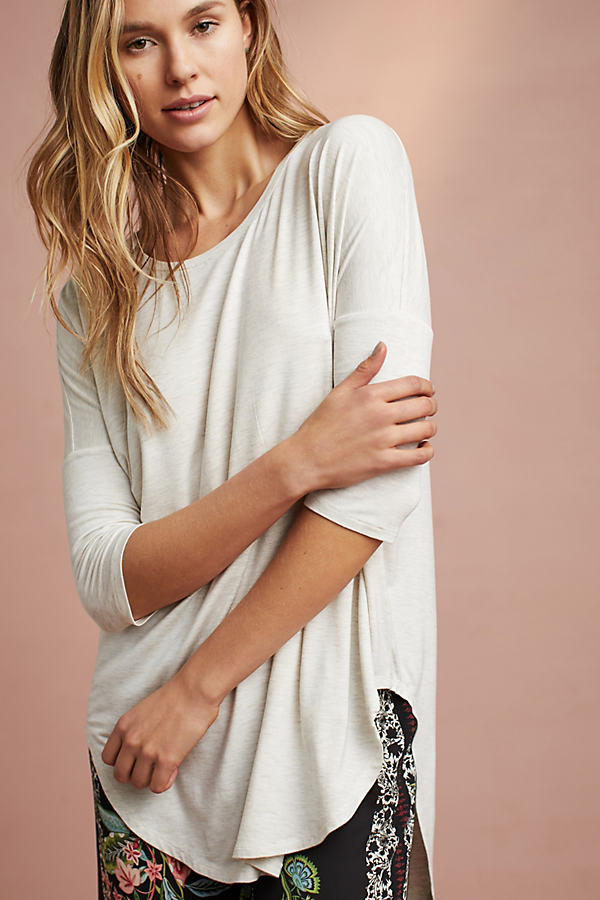 Florence Oversized Knit Tee - Neutral, Size L