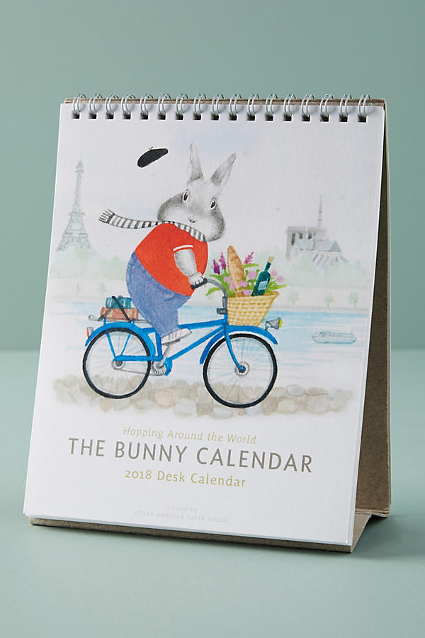 2018 bunny desk calendar
