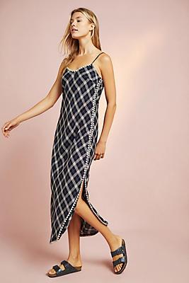 Slide View: 1: Corey Lynn Calter Plaid Slip Dress