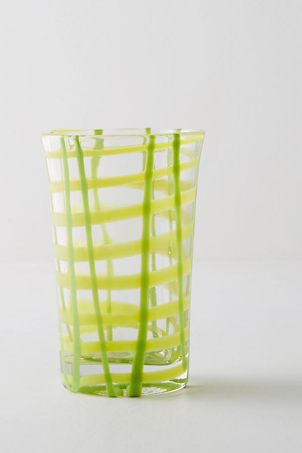 Mosa Juice Glass - Yellow Motif, Size Juice