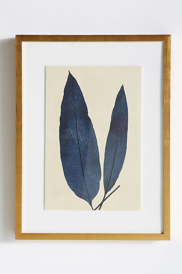Indigo Ferns Wall Art | Anthropologie