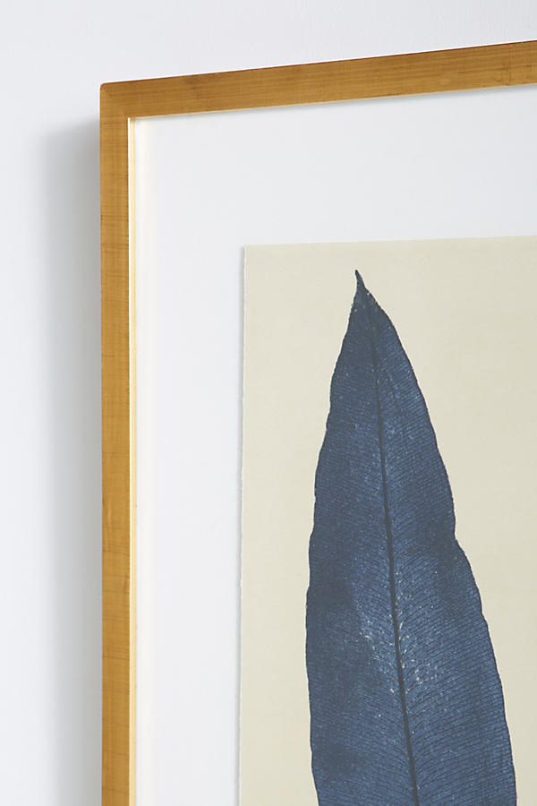 Slide View: 3: Indigo Ferns Wall Art