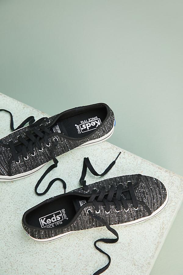 Keds Kickstart Trainers - Black Motif, Size 36