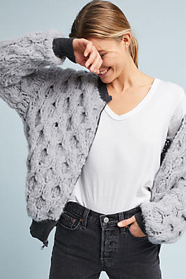 Slide View: 1: Laugh More Bomber Cardigan