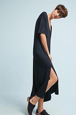 Slide View: 1: Oversized V-Neck Maxi Dress