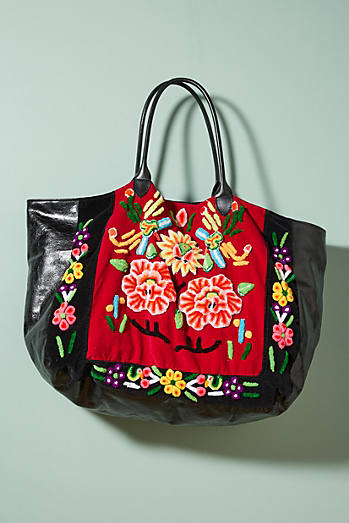 Shimmered Florals Tote Bag