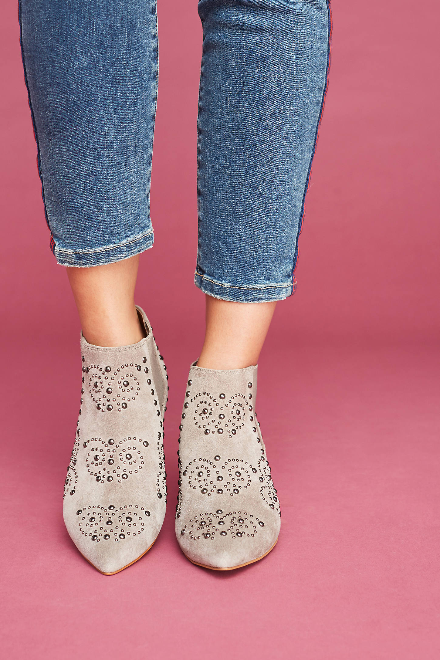 Jeffrey Campbell Mulvain Studded Ankle Boots