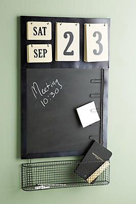 Slide View: 1: Chalkboard Calendar