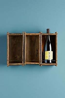 Slide View: 1: Rustic Wine Rack