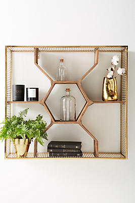 Slide View: 1: Honeycomb Shelving Unit