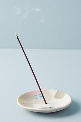 Slide View: 1: Pastel Disc Incense Holder