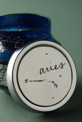 Slide View: 1: Capri Blue Mini Zodiac Candle