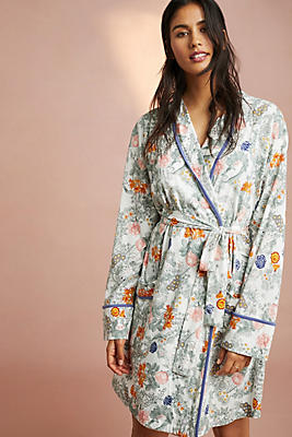 Slide View: 1: Floreat Printed Knit Robe