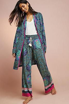 Slide View: 2: Floreat Printed Knit Robe