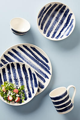 Slide View: 2: Indigo Rain Dinner Plate