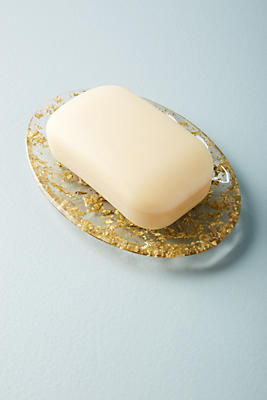 Slide View: 1: Gold-Flecked Soap Dish