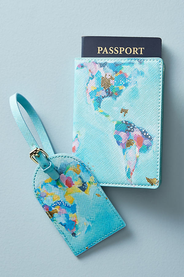 Map Maker Luggage Tag - Mint, Size Xs
