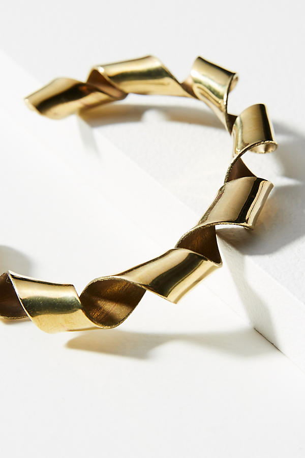 Slide View: 2: Coiled Ribbon Cuff Bracelet