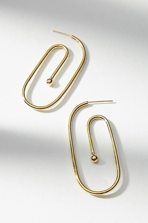 Maddox Spiral Hoop Earrings - Gold