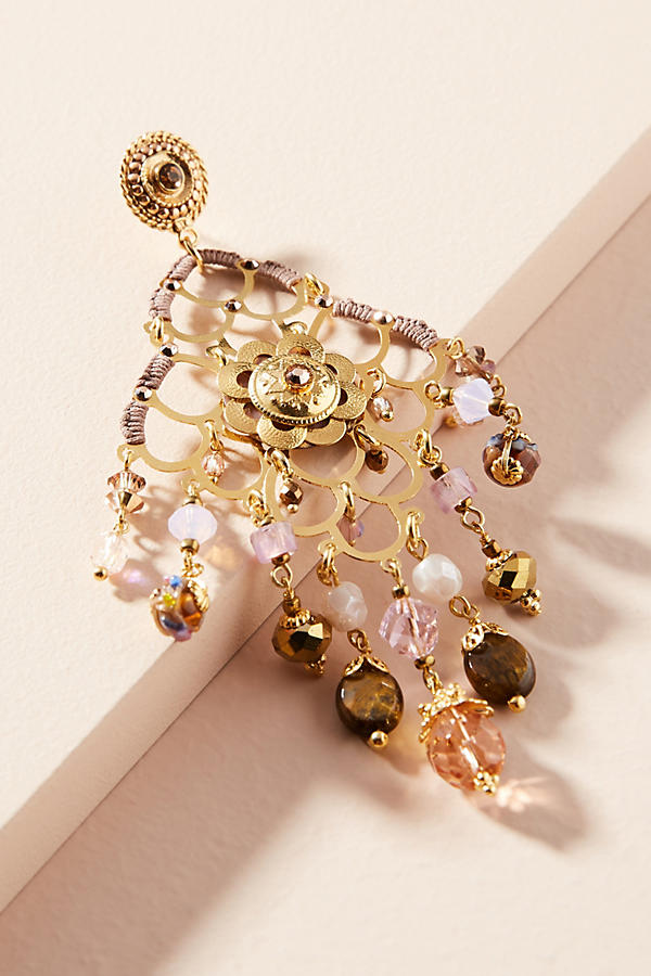 Slide View: 2: Reine Chandelier Earrings