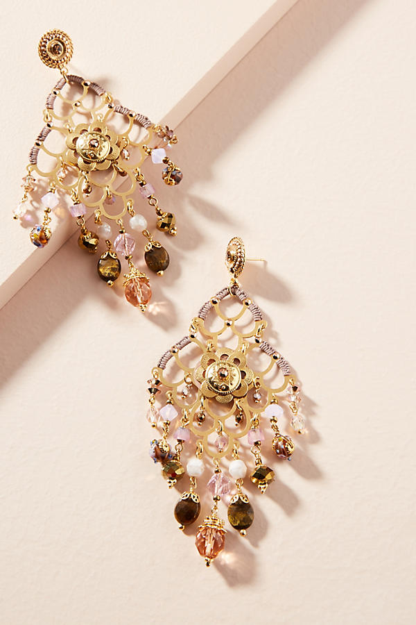 Slide View: 1: Reine Chandelier Earrings