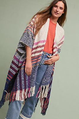 Slide View: 1: Laramie Plaid Kimono