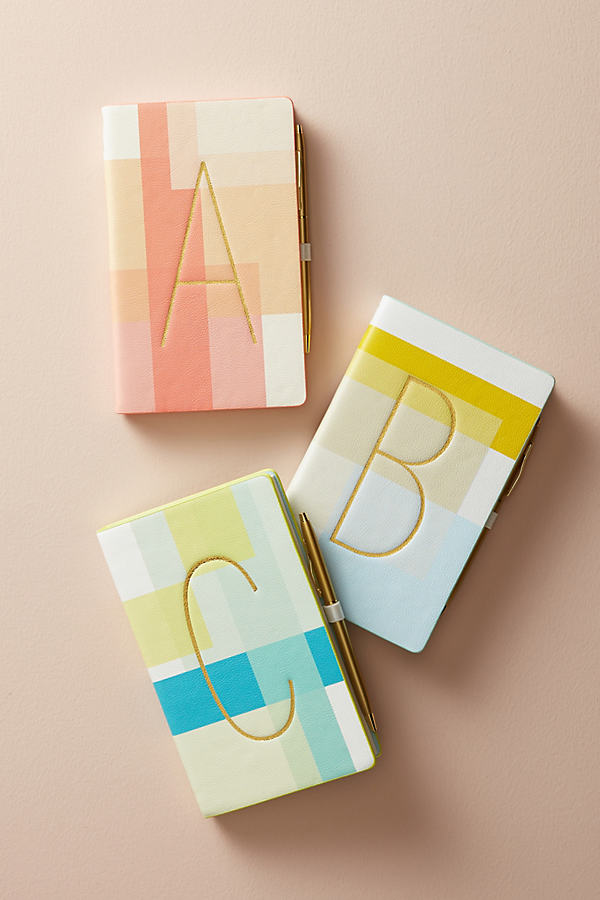 Colourblocked Monogram Journal - A, Size V
