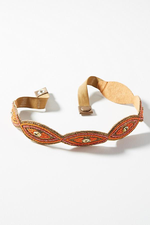 Visionary Embellished Belt - Orange, Size L