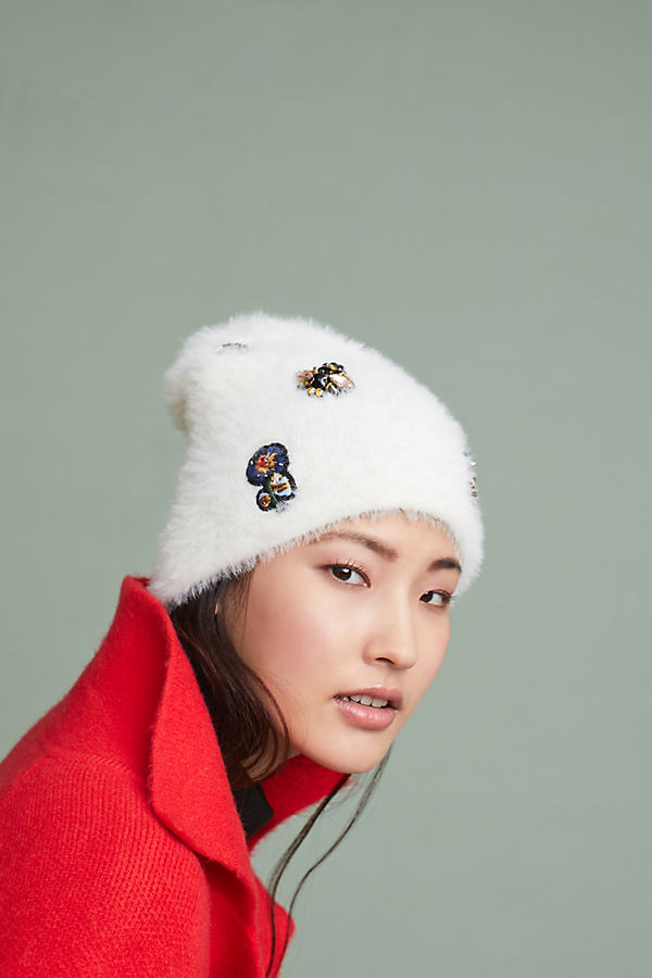 Well-Embellished Beanie - Ivory