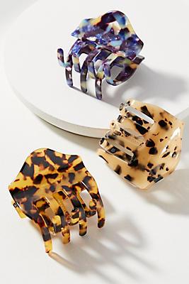 Anthropologie Scalloped Tortoise Hair Clip Set Jkw2V