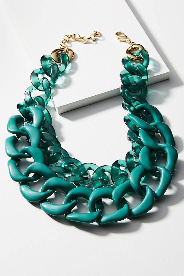 Casey Layered Necklace - Green