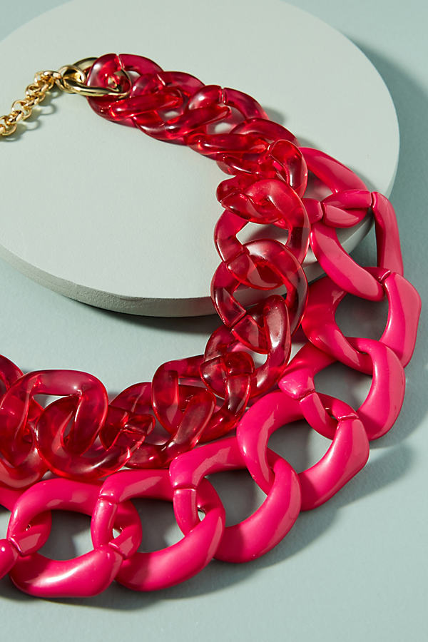 Casey Layered Necklace - Pink