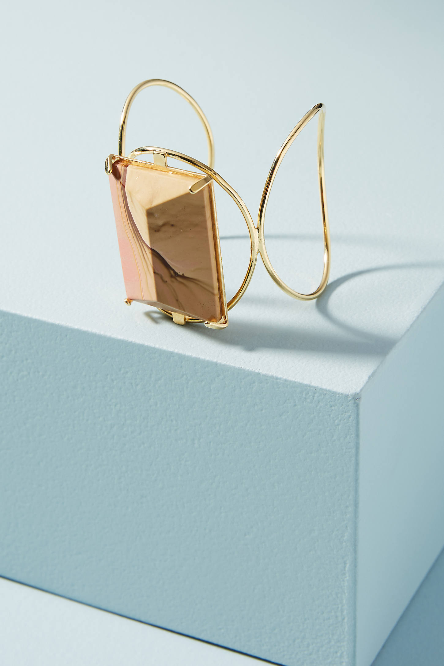Agate Wired Cuff Bracelet