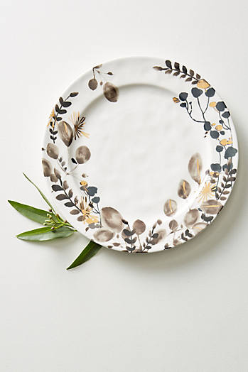 Slide View: 1: Gilded Botany Dinner Plate