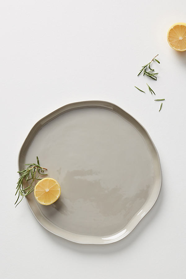 Piedra Dinner Plate - Light Grey, Size Dinner