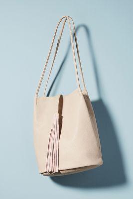 Tassel Tote Bag  -    Light Tan