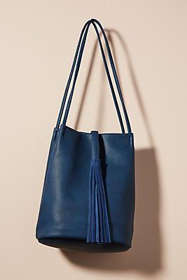 Slide View: 1: Tassel Tote Bag