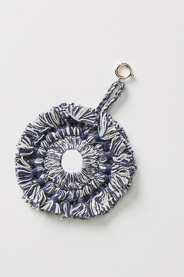 Fanned Tassels Decorative Charm - Navy
