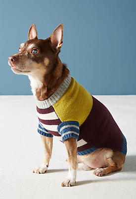 Slide View: 2: Cozy Stripes Dog Sweater