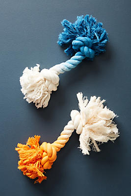 Slide View: 2: Dip-Dyed Rope Toy