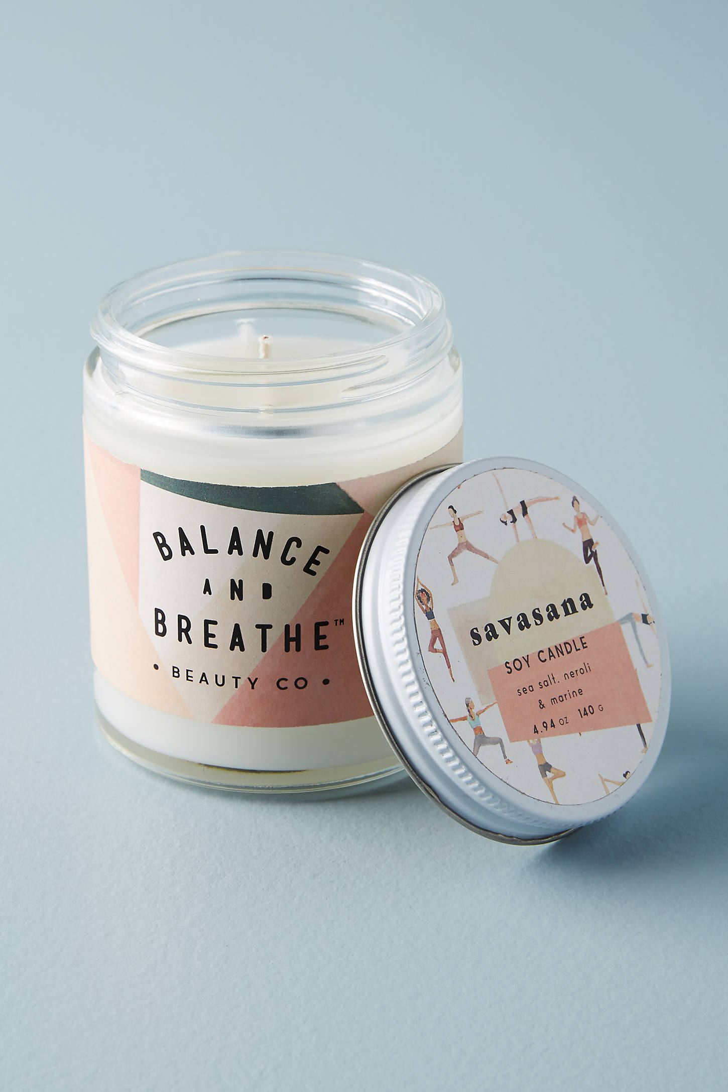 Balance and Breathe Yoga Candle