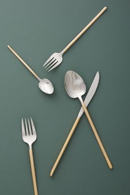 Glitter Flatware by Anthropologie