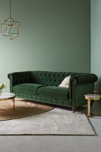 Custom Options Available Lyre Chesterfield Two Cushion Sofa