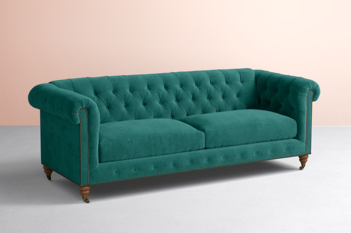Lyre Chesterfield Two Cushion Sofa