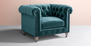 Fauteuil Lyre Chesterfield