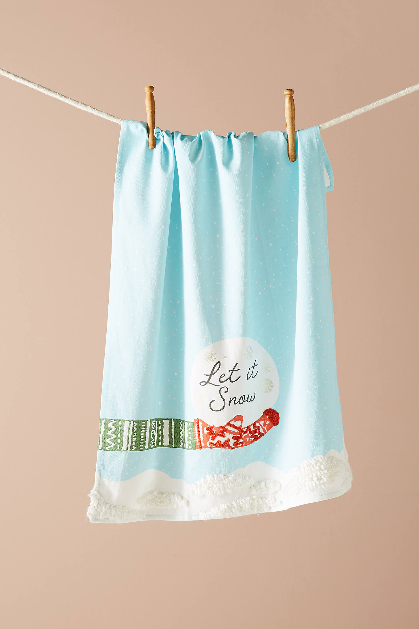 Let It Snow Dish Towel