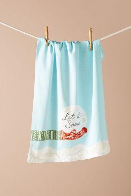 Let It Snow Dish Towel