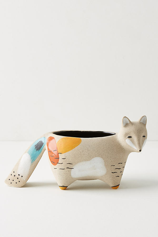Woodland Animal Pot - Sand