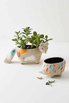 Slide View: 2: Woodland Animal Pot